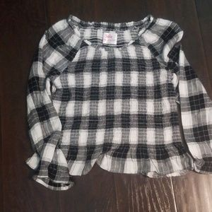 Cinched Plaid Justice Top